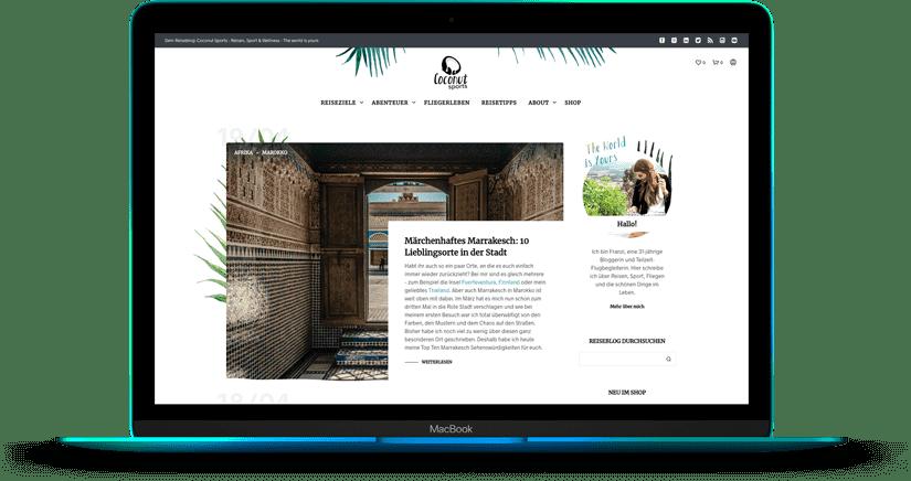 Aktuell: Neugestaltung Website - WordPress & WooCommerce - www.coconut-sports.de