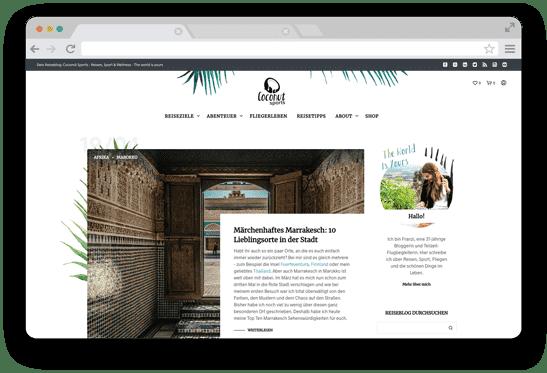 Reiseblog mit WordPress und Webshop mit WooCommerce