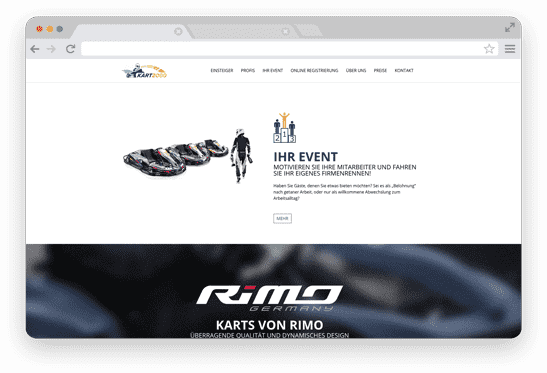 WordPress Website für Kartsport