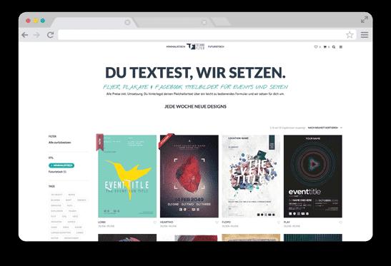WordPress Website mit Service für Design. Shopanbindung mit WooCommerce.