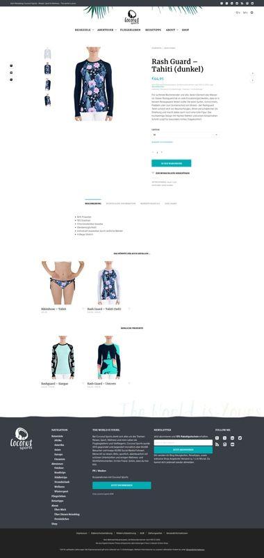 WooCommerce Webshop - Webdesign für Coconut Sports - Shopseite