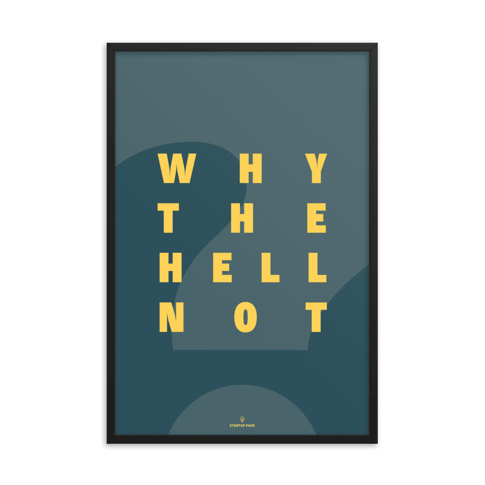 Poster - Why the hell not?