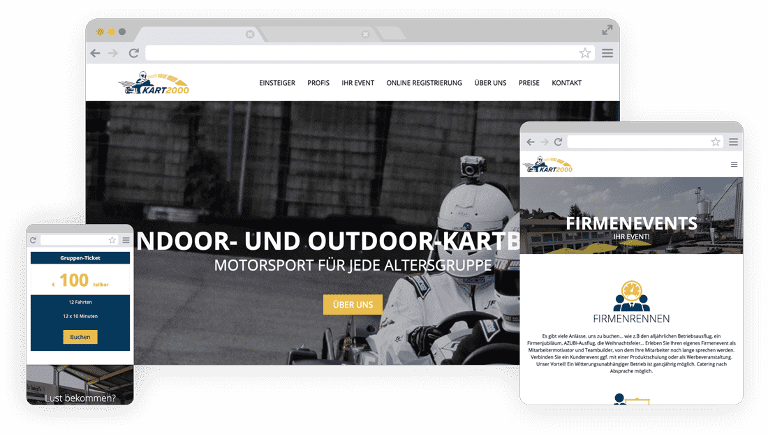 WordPress Website - Responsive Design für KART2000