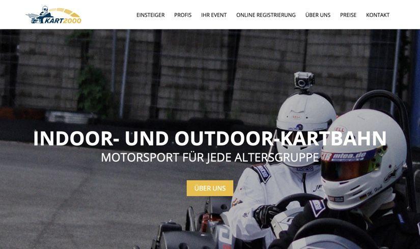 WordPress Website - Header der Startseite für KART2000
