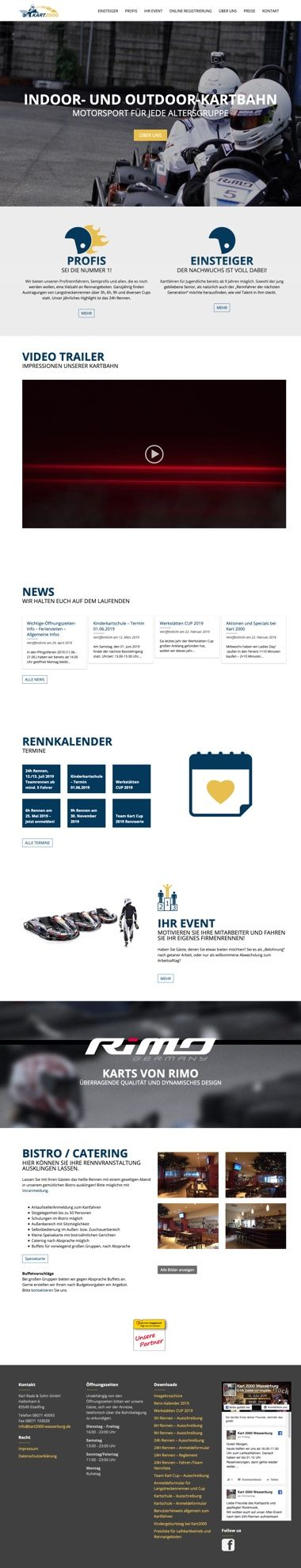 WordPress Website - Webdesign der Startseite für KART2000