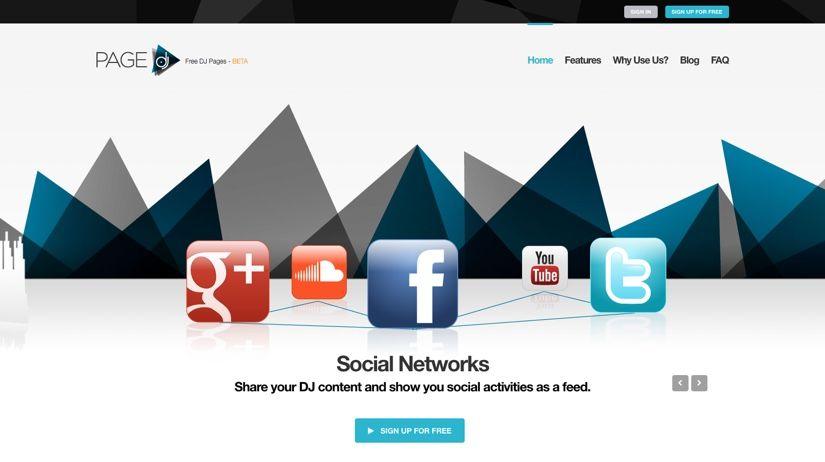 Social Plattform für Deejays - pagedj