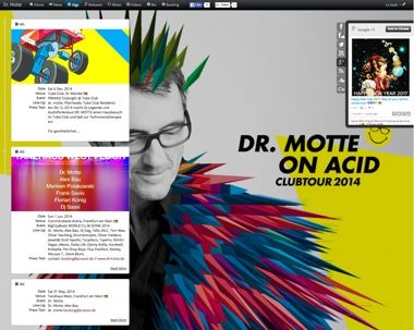 Webdesign der DJ Website - pagedj
