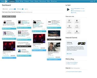 Backend-Ansicht - Datenpflege der eigenen DJ Website - Dashboard - pagedj