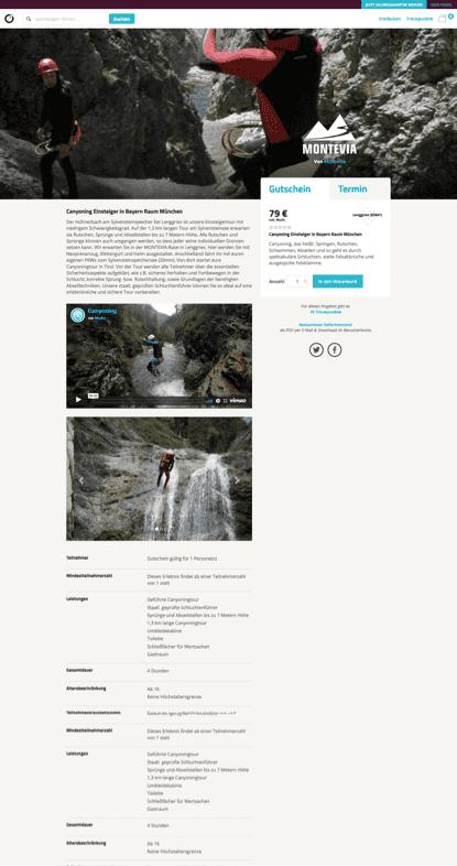 WooCommerce Webshop - Webdesign - ewondo Erlebnisseite