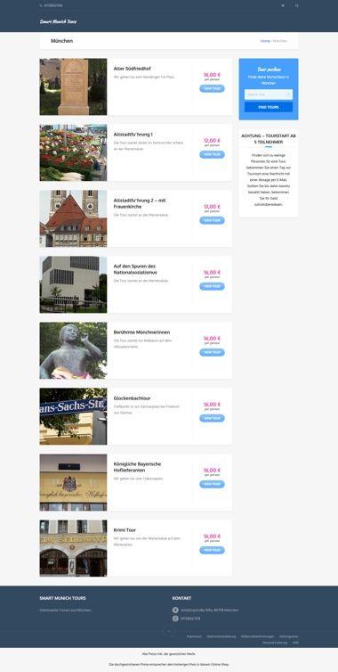 WooCommerce Webshop für Buchungen - Buchungsübersicht - Smart Munich Tours