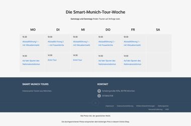 WooCommerce Webshop für Buchungen - Kalender - Smart Munich Tours