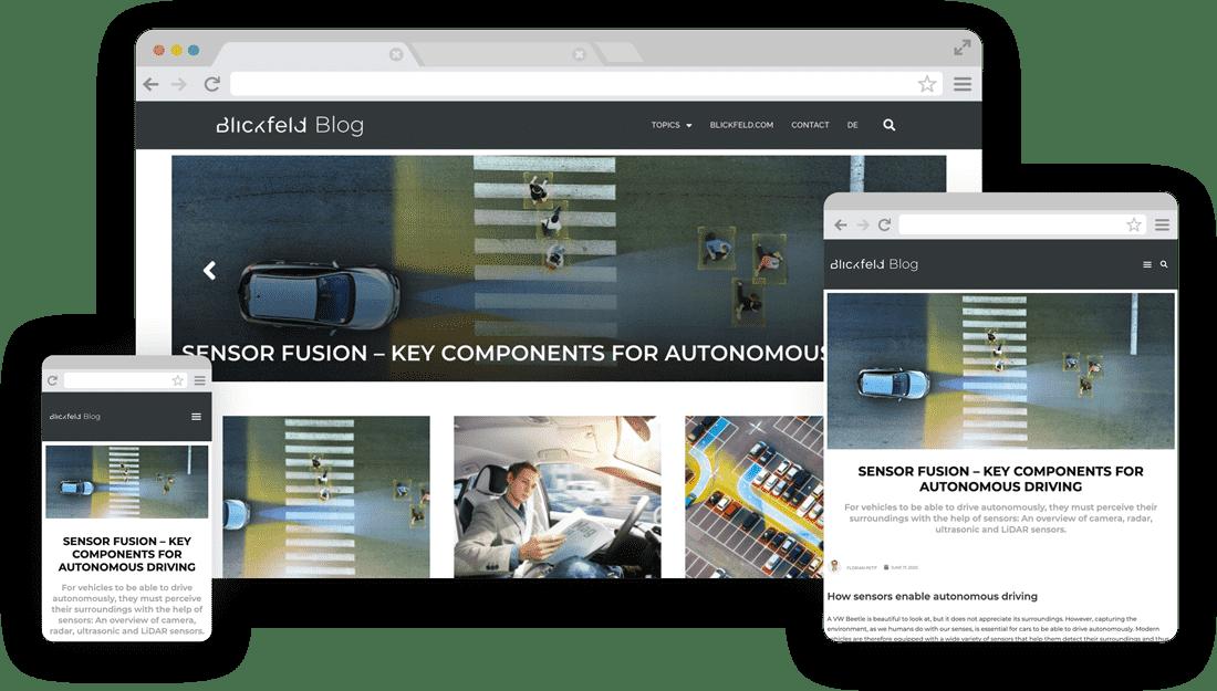 Blickfeld WordPress Blog - Responsive Design