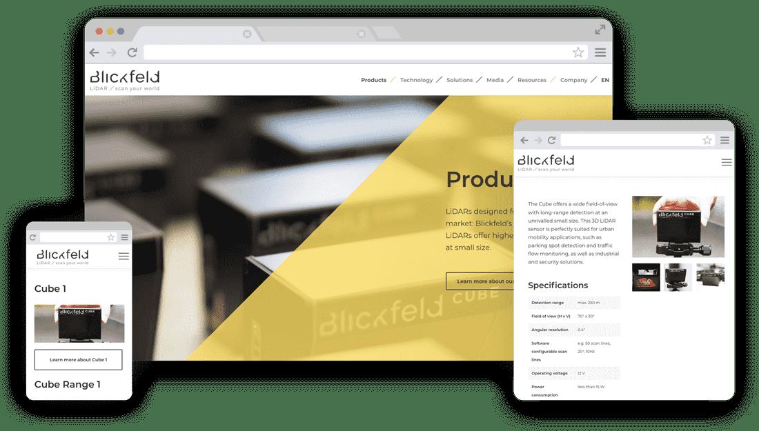 Blickfeld WordPress Betreuung - Responsive Design